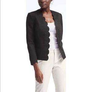 Banana Republic Scalloped Hem Jacket Blazer